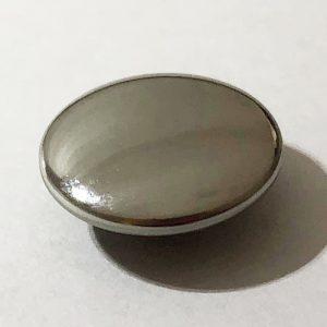 メタルホックボタン シルバー